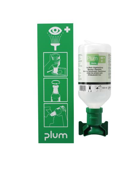 Station de lavage oculaire Plum (1 flacon de 500 mL)