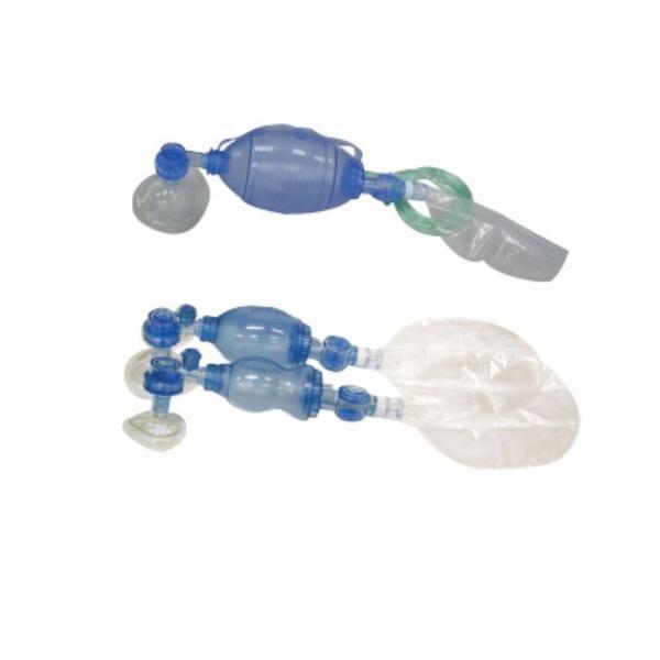 Insufflateur à usage unique en PVC avec réservoir O2 et masque