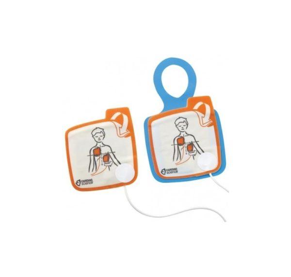 électrodes pédiatriques pour défibrillateur Cardiac Science powerheart G5 automatique ou semi-automatique